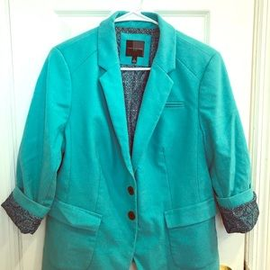 The Limited teal blazer size Large